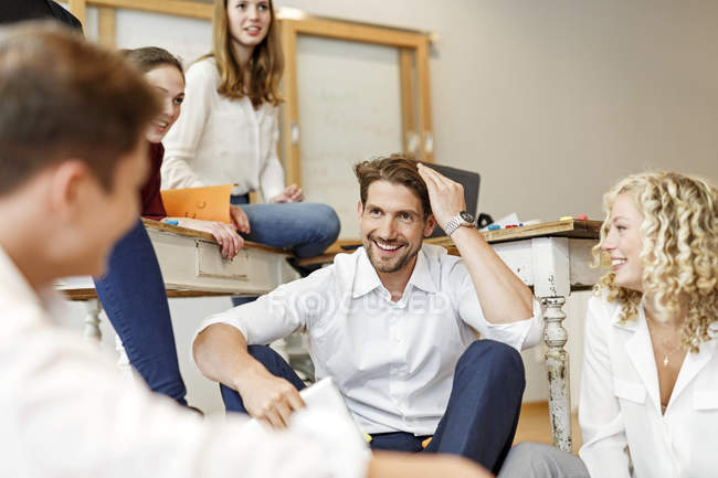 Professionals meeting in office — Stock Photo
