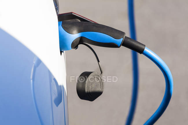 Close up of Charging of an electric car — Stock Photo
