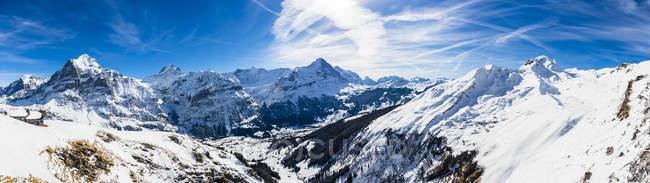 First Cliff Walk on Eiger, Switzerland — стоковое фото