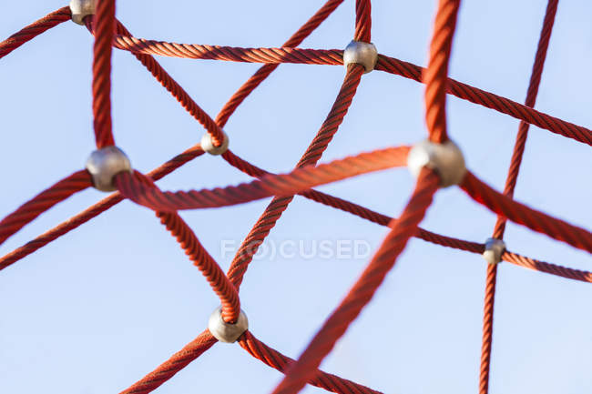 Red climbing net — Stock Photo