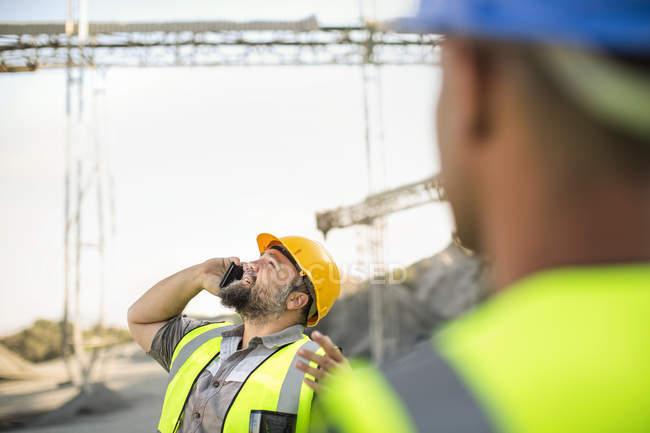 Quarry workesr on site — Stock Photo