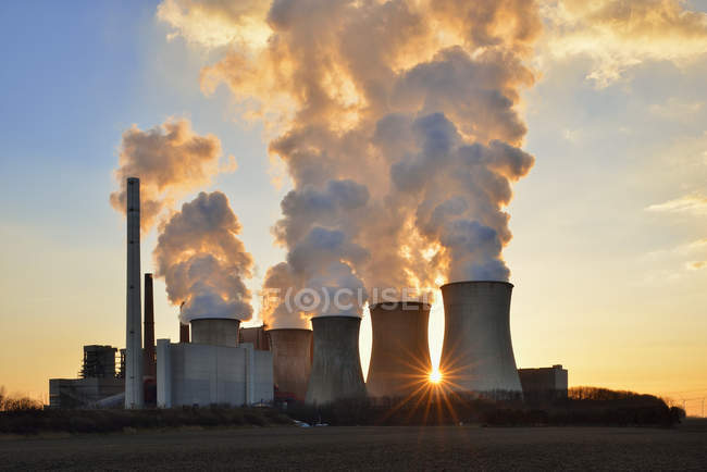 Угольных электростанции Нейрат — стоковое фото
