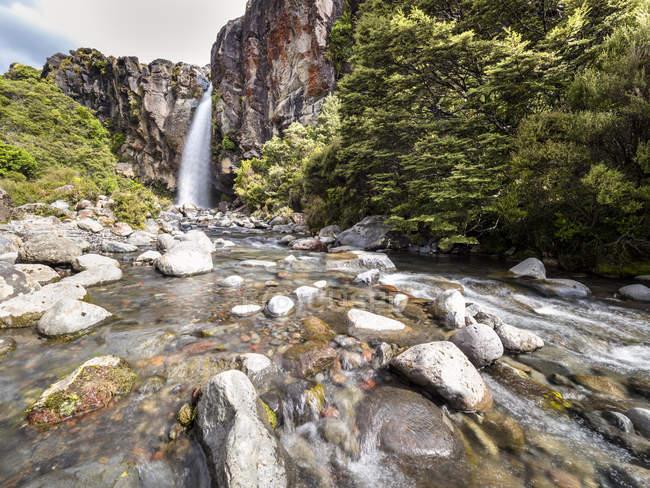 Новая Зеландия, район Руапеху, национальный парк Тонгариро, водопад Таранаки — стоковое фото