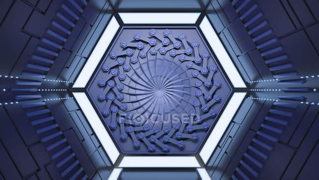 Túnel escuro futurista — Fotografia de Stock