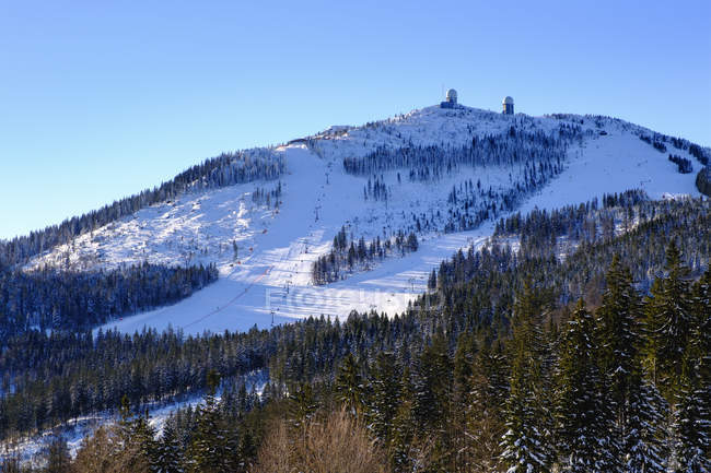 Большое Arber лыжного района — стоковое фото