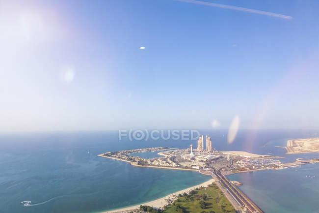 Emiratos Árabes Unidos, Abu Dhabi, isla artificial - foto de stock