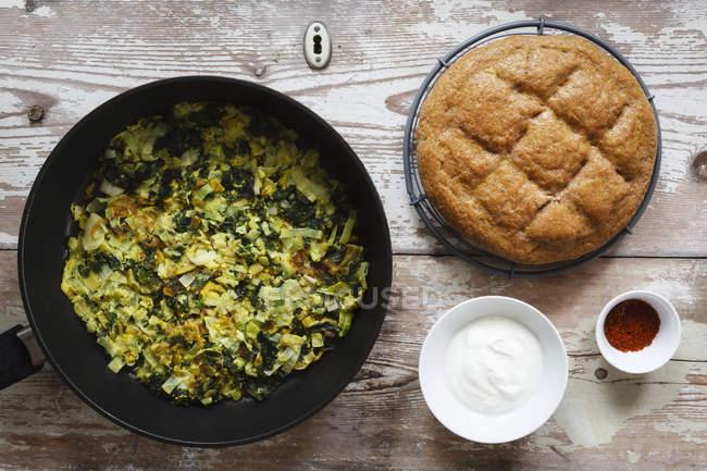 Gemüse-Pfanne mit Lauch — Stockfoto