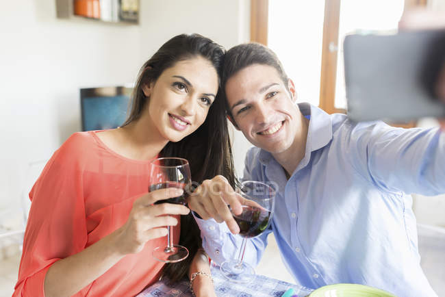 Couple Posing For Selfie Stock Photo