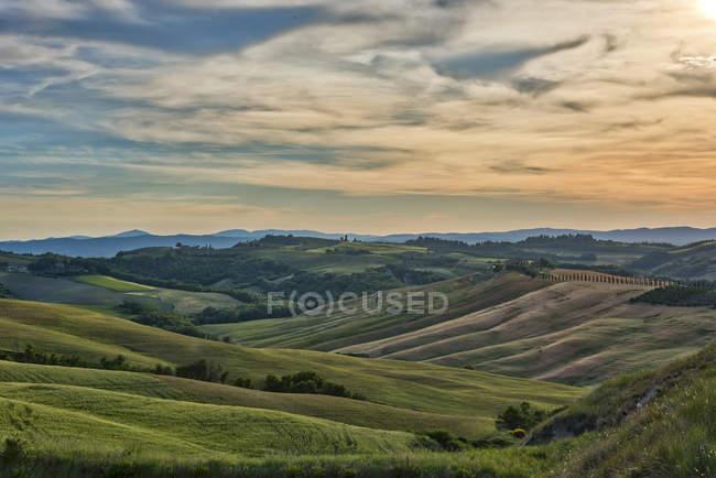 Горбистий ландшафт, Тоскана — стокове фото