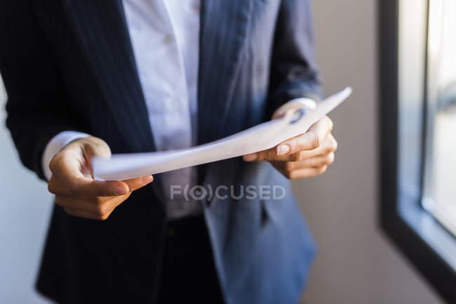 Documento de exploração empresária — Fotografia de Stock