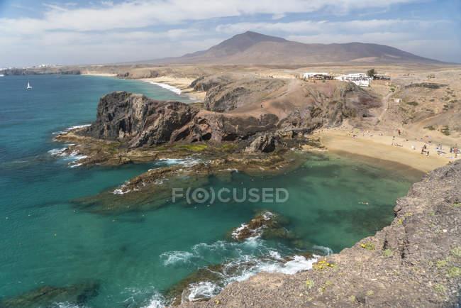 Іспанія, пляж Papagayo в Лансароте — стокове фото