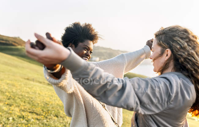 Two best friends having fun — Stock Photo