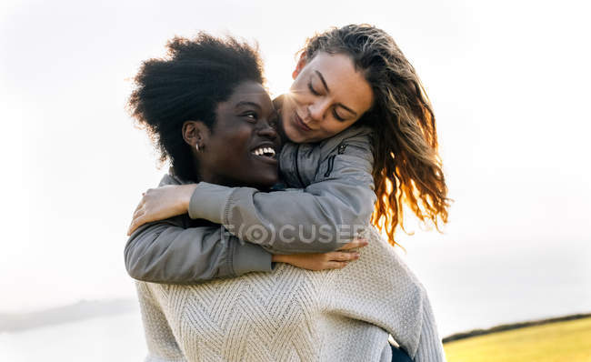 Due migliori amici che si diverte — Foto stock