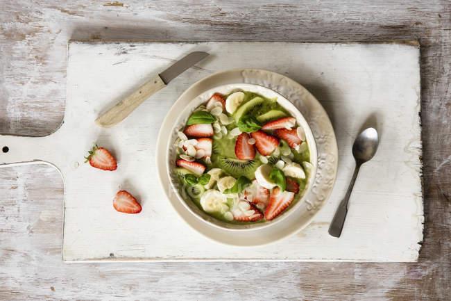 Smoothie Bowl with strawberries — Stock Photo
