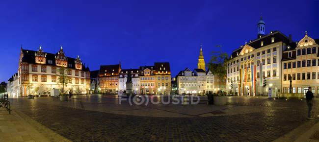 Marktplatz mit Rathaus, Coburg — Stockfoto