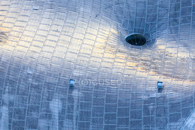 Glass roof on the modern building — Stock Photo