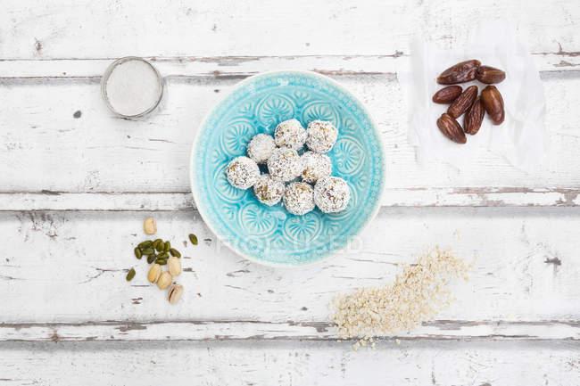 Bliss Balls in bowl — Stock Photo