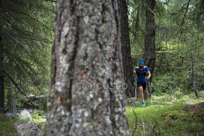 Trailläufer Reisen in Bergen — Stockfoto