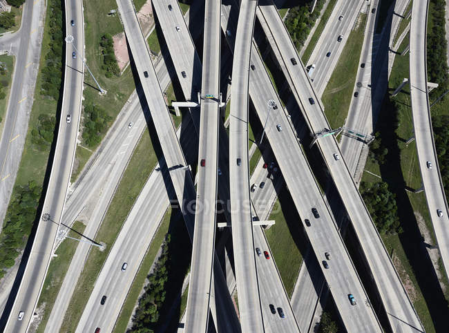 Aerial view of highway interchange — Stock Photo