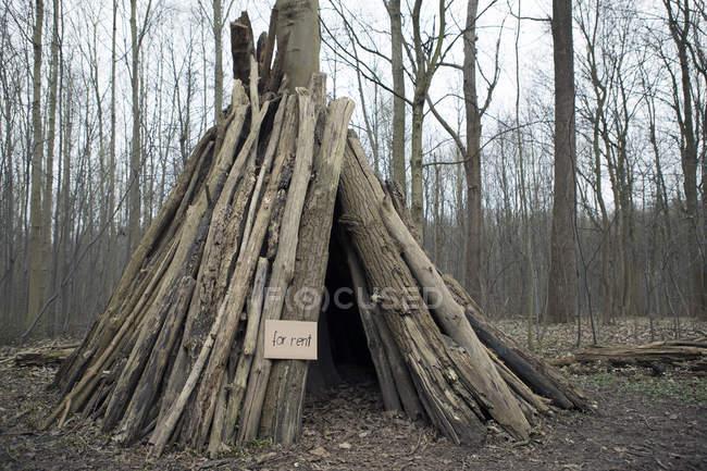 Cabaña en alquiler en bosque - foto de stock