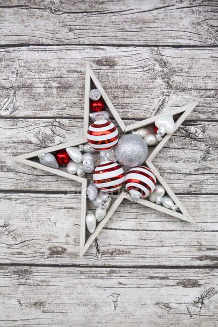 Decoração de Natal em madeira — Fotografia de Stock