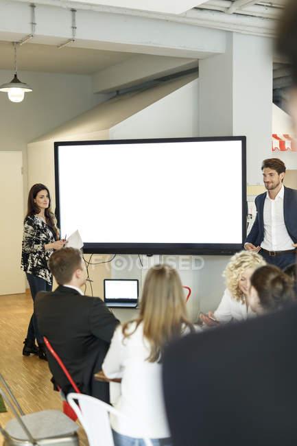 Presentation at large screen — Stock Photo