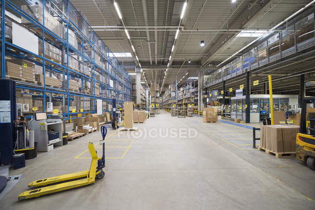 High rack warehouse — Stock Photo