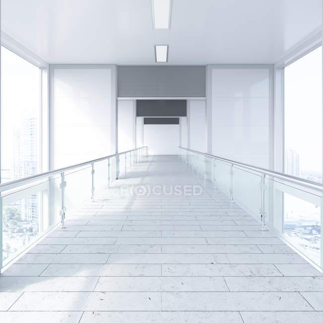 Empty passageway in office building — Stock Photo