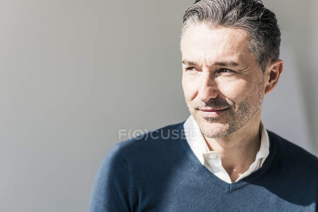 Portrait of businessman with stubble — Stock Photo