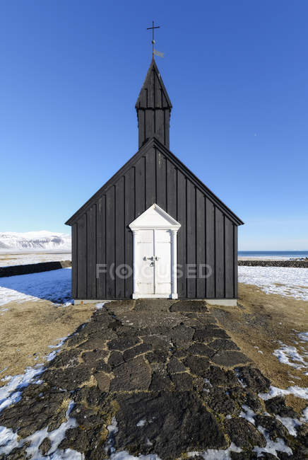Budir iglesia negra - foto de stock