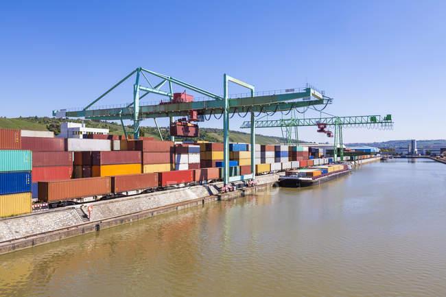 Container harbor, Stuttgart — Stock Photo