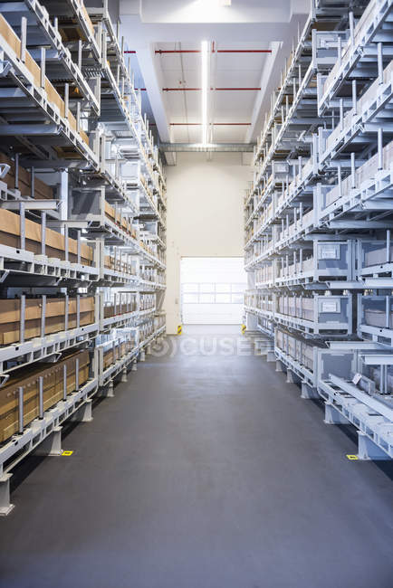 High rack factory warehouse — Stock Photo