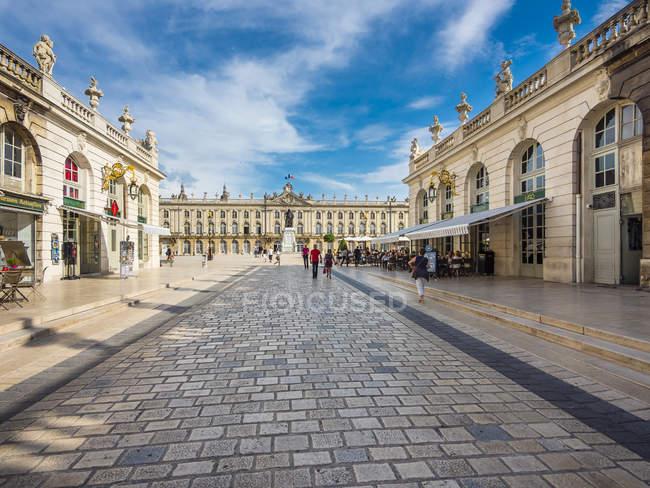Place Stanislas Ansicht im sonnigen Tageslicht — Stockfoto