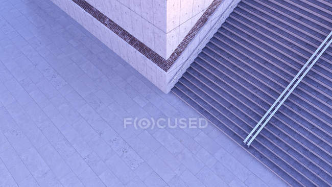 Staircase at twilight seen from above — Stock Photo