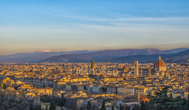 Cityscape with Palazzo Vecchio, Florence — Stock Photo