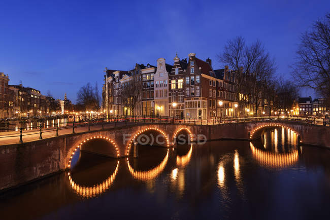 Bridge over Keizersgracht, Amsterdam — Stock Photo