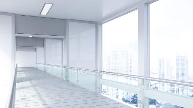 Empty lobby in office building — Stock Photo