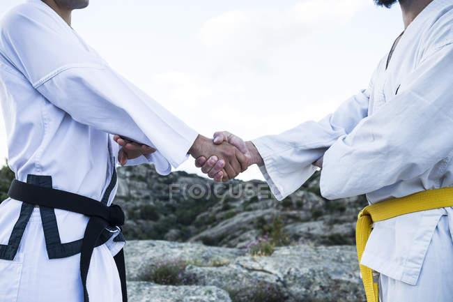 Männer schütteln Hände — Stockfoto