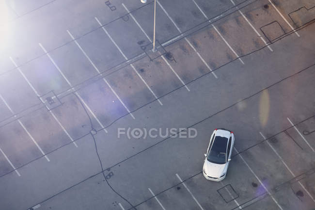 Electric car on parking lot — Stock Photo