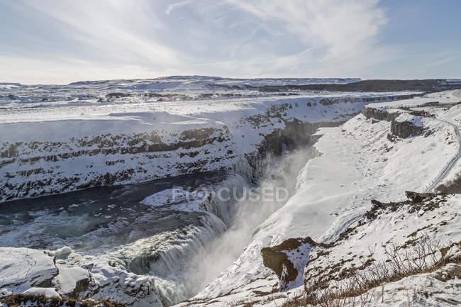 Gullfoss in inverno, Islanda — Foto stock