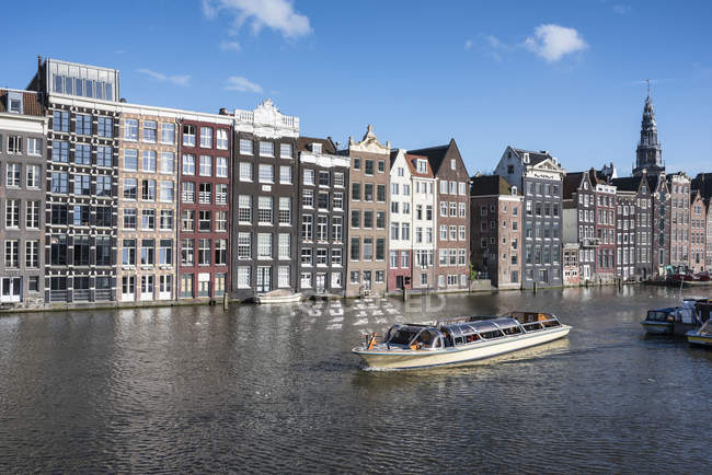 Row of canal houses, Amsterdam — Stock Photo