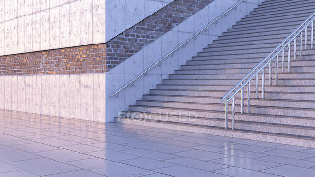 Staircase at twilight on the street — Stock Photo