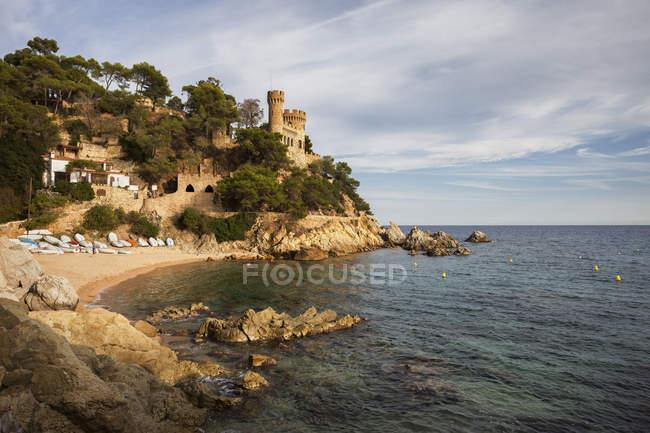 Resort town on Costa Brava at Mediterranean Sea, Lloret de Mar, Catalonia, Spain — Stock Photo