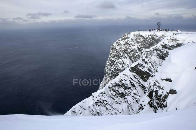 Una vista del globo al capo nord — Foto stock