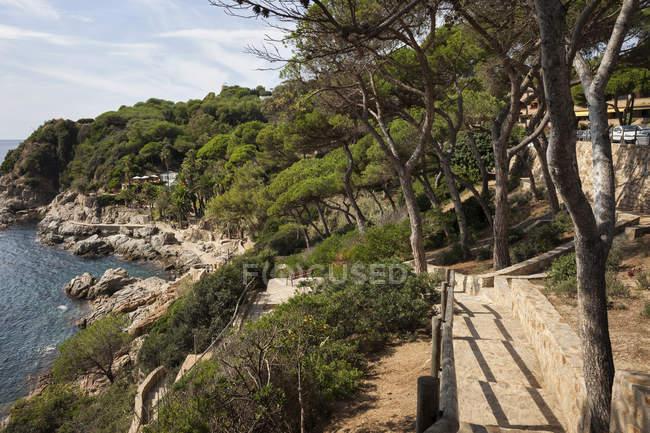 Spain, Catalonia, Lloret de Mar town, Costa Brava coastline — Stock Photo