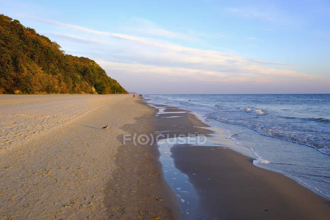 View of sandy beach against water  during daytime — Stock Photo