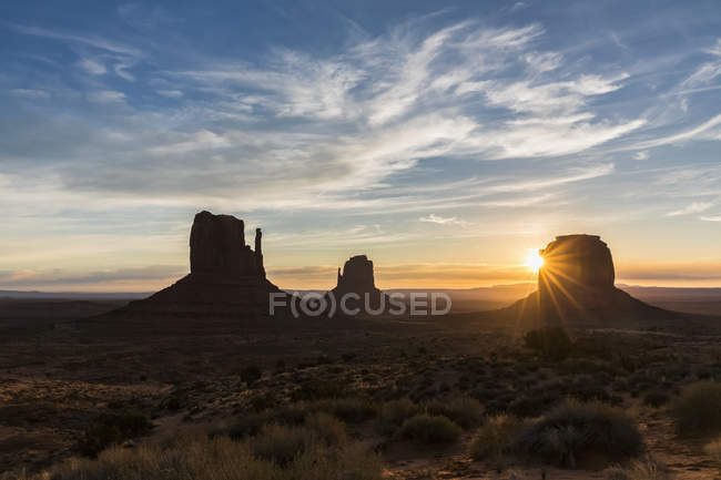 EUA, Estados Unidos da América, Southwest, Colorado Plateau, Utah, Arizona, Navajo Nation Reservation, Monument Valley — Fotografia de Stock