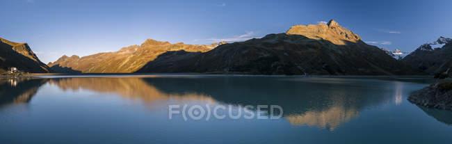 Áustria, vale do Montafon, barragem de Silvretta e Bielerhohe — Fotografia de Stock