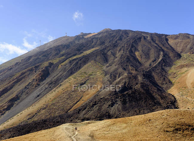 Spain, Tenerife, Teide National Park, Pico del Teide with cable car — Stock Photo