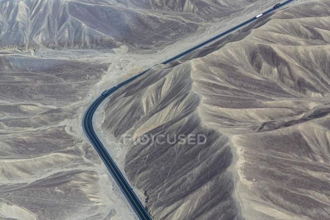 Sud America, Perù, Ande centrali, Provincia di Nazca, Ica Region, Nazca (Nasca), veduta aerea, Carretera Panamericana Sur — Foto stock